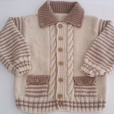 Baby Raglan Sweater Knitting Pattern - Free pattern for cardigan and booties for personal use only Baby Sweater Patterns, Baby Cardigan Knitting Pattern, Knitted Baby Cardigan, Knit Baby Sweaters, Baby Knitting Patterns, Baby Patterns, Toddler Sweater, Baby Knits, Knitting For Charity