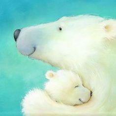 Polar Bear Hug by Alison Edgson