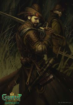 Witch Hunter by Lorenzo Mastroianni The Art of the Witcher: Gwent ui, ux Fantasy Male, Fantasy Rpg, Medieval Fantasy, Fantasy Artwork, Dark Fantasy, Character Portraits, Character Art, Character Outfits, Warhammer Fantasy Roleplay