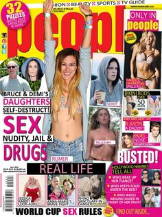 Bruce & Demi's daughters are out of control. In the latest issue.