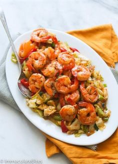 Jamaican Cabbage and Shrimp - A quick stir fried cabbage seasoned with aromatic spices and topped with sauté shrimp . A Delicious side dish to accompany any meal. Jamaican Cuisine, Jamaican Dishes, Jamaican Recipes, Haitian Recipes, Jamaican Cabbage, Steamed Cabbage, Jamacian Cabbage Recipe, Cabbage Recipes, Shrimp Recipes