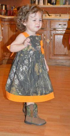 Girls Mossy Oak Camo dress. by YogiBearlySewing on Etsy, $25.00