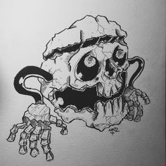Ball Skull. 4 Tattoo, Dark Artwork, Horror, Skull, Ink, Illustration, Illustrations, Character Illustration, Ink Art