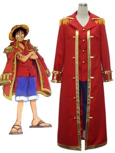 One Piece Monkey·D·Luffy Captain Cosplay Uniform Cosplay Costume
