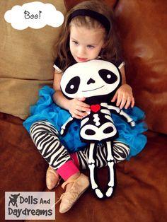 Skeleton Doll PDF Sewing Pattern Halloween by DollsAndDaydreams, $10.00
