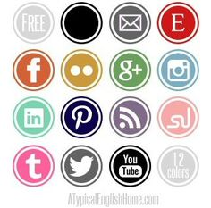 """A Typical English Home: Free Social Media Icons and a tutorial """" How to install them"""""""