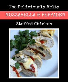 The deliciously melty mozzarella and peppadews stuffed chicken