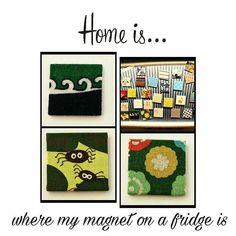 Bunte Magnete aus Stoff, für Kühlschrank und Magnettafel von Theresa #DIY #Berlin #Friedrichshain #stoffwelten #unikat #selbstgemachtesverkaufen #dawanda #kreativbühne #gifts #knitting #instacraft #instagood #homemade #instalike #bestoftheday #igart #instaart #shoutout #instalike #follow #photooftheday #diy #berlin #handmade #www.einfach-ein-fach.berlin