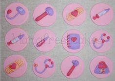 Doc Mcstuffins Inspired Fondant Cupcake Toppers. $29.99, via Etsy.