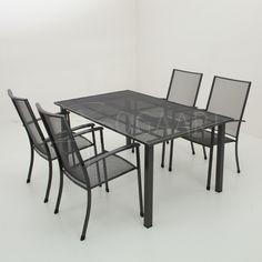 Kettler Siero stapelstoel met Loft tafel - 160x100cm