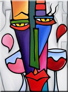 Art 'It's Good To Have Choices - - by Thomas C. Fedro from Faces Funny Drawings, Art Drawings, Abstract Face Art, Cubist Art, Cardboard Sculpture, Hippie Art, Artist Portfolio, Dot Painting, African Art