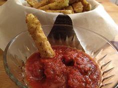 Baked Cauliflower-Mozzarella Sticks Recipe on Yummly. @yummly #recipe