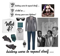 What If? by vanessashaw-179 on Polyvore featuring English Laundry, Boglioli, Ted Baker, Tom Ford, Citizen, ZeroUV, Kiton, Salvatore Ferragamo, WALL and men's fashion
