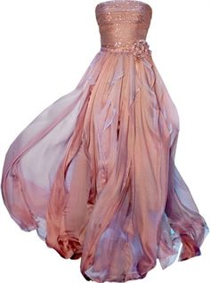 Fairy-like.  I like the layers of color; it's so elegant.