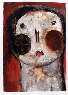 "Saatchi Online Artist: Scott Bergey; Mixed Media, 2011, Painting ""I Think I'll Disappear Now"""