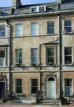4 Sydney Place, Bath, where Jane Austen lived, when her father retired and her and her family moved and lived here for a few years.