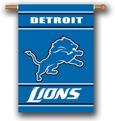 The Detroit Lions Two Sided House Banner is a great flag for Lions fans