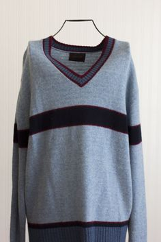 8154000bc9c Mens Vintage Campus Sweater - Preppy V Neck Pull Over XL Preppy Sweater