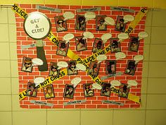 Mystery Unit...back to school board. Have them describe themselves and what makes them a good detective (student)