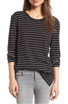 BP. Side Slit Tee. Deep vents and a high/low hem enhance the comfortable ease of an oversized cotton-modal tee made for laid-back days.