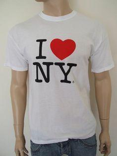 VTG I LOVE NEW YORK COTTON T SHIRT LARGE