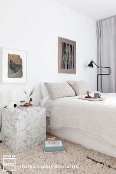 Wollteppich Autumn Breeze L Scandi Bedroom, Bedroom Decor, Bedroom Inspo, Bedroom Ideas, Hidden Bed, Lorena Canals, Decoration Inspiration, Decor Ideas, Getting Out Of Bed