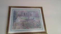 Classic Home Interiors & Gifts print. Sunday in Park. No longer Available. $100. Solid wood frame. Must see.