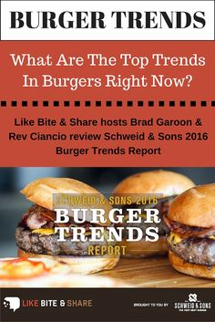 The Schweid & Sons Burger Trends Report is meticulously compiled by  gathering intel from the company's