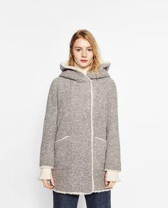 Image 2 of FLEECE-LINED COAT from Zara