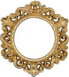 This is a frame from my personal collection. Ornate Gold and Silver - Round Frame Vintage Frames, Antique Frames, Chic Antique, Vintage Wood, Round Picture Frames, Printable Frames, Christmas Graphics, 3d Texture, Circular Pattern