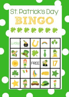 St. Patrick's Bingo Boards