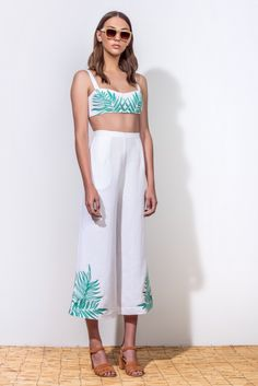 b3d4d97a2c4 Alice+++Olivia+ Lucie +Crop+Wide+Leg+Linen+Jumpsuit+available+at+ Nordstrom