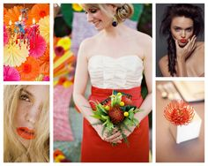Looking for your wedding color palette? The Perfect Palette wants to help! The Perfect Palette is dedicated to helping you see the many ways you can use color to bring your wedding to life. Red Bridesmaid Dresses, Bridesmaid Flowers, Flower Bouquet Wedding, Wedding Bridesmaids, Wedding Gowns, Wedding Beauty, Dream Wedding, Wedding Things, Wedding Stuff