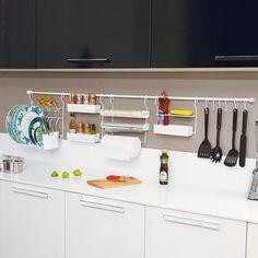 Kit de Cozinha: 4 Barras+6 Ganchos+1 - Americanas.com