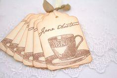 Jane Austen tea cup tags