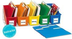 Weekly organizer- It is essential in organizing your worksheets, activities, and books for the week.