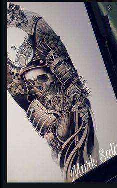 Japanese Tattoo Designs, Japanese Tattoo Art, Japanese Sleeve Tattoos, Shogun Tattoo, Samurai Mask Tattoo, Card Tattoo Designs, Tattoo Sleeve Designs, Buddha Tattoos, Body Art Tattoos