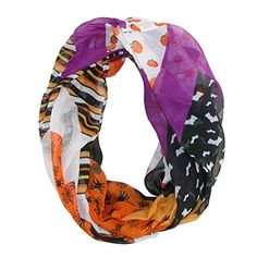 David  Young Womens Halloween Holiday Infinity Loop Scarf MultiColor ** Read more  at the image link. #FallFashion