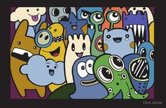 """"""" monsters cute alien"""" by Chris olivier Framed Prints, Canvas Prints, Art Prints, Cute Alien, Long Hoodie, Art Boards, Wall Tapestry, Decorative Throw Pillows, Monsters"""