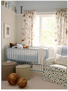 Gender-Neutral Modern Baby Rooms.  In case we want to keep the baby's sex a surprise.