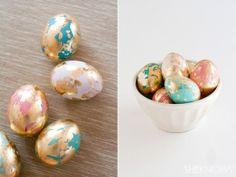 Wow das sind doch mal edle Ostereier! Noch mehr Ideen gibt es auf www.Spaaz.de
