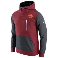 Men's Nike Iowa State Cyclones Colorblock Fleece Hoodie, Ovrfl Oth