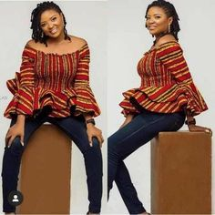 Perfect Ankara tops with different shades For Fabulous Ladies - Reny styles African Wear, African Attire, African Dress, Latest African Fashion Dresses, African Print Fashion, Ankara Blouse, Ankara Tops, Ankara Styles, African Tops For Women