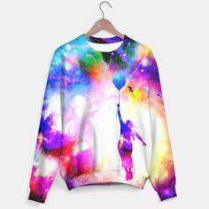 fly away sweater www.liveheroes.com Space Girl, Cotton Sweater, Tie Dye, Live, Stylish, Sweatshirts, Sweaters, Tops, Women