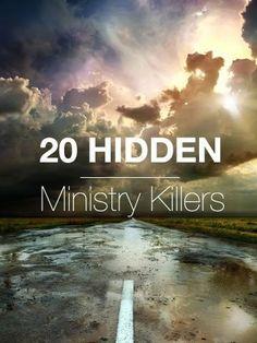 20 Hidden Ministry Killers by George Bullard Church Ministry, Music Ministry, Youth Ministry, Ministry Ideas, Children Ministry, Ministry Leadership, Health Ministry, Youth Leader, Worship Leader