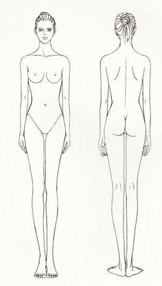 Шаблоны женских фигур в статике