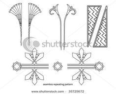 Find Art Deco Elements stock images in HD and millions of other royalty-free stock photos, illustrations and vectors in the Shutterstock collection. Motifs Art Nouveau, Motif Art Deco, Art Deco Design, Arte Art Deco, Art Deco Font, Salles D'art Élémentaires, Art Room Doors, Elementary Art Rooms, Kids Canvas Art