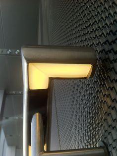 Glowrail; bespoke LED handrail lighting design at New Court, London www.thelightlab.com
