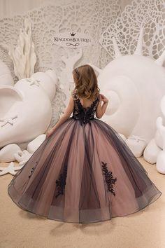 Marina y rosa niña de las flores vestido de fiesta de
