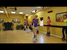 I think I would fall and hurt myself, but seriously....how cool is this?! - Kangoo jumps class